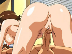 Blondie Kyoko Zeppelin gets her pretty ass pumped by Partner