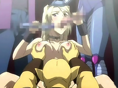 Virgin Marion is bent over by Android 17